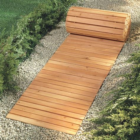 walkways for wet yards eight foot wooden yard pathway wooden walkway covers snowy or muddy