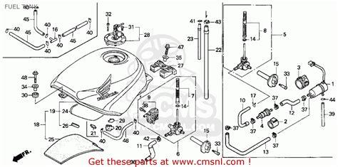 Honda Cbr600f3 Super Sport 1995 Usa Fuel Tank Schematic