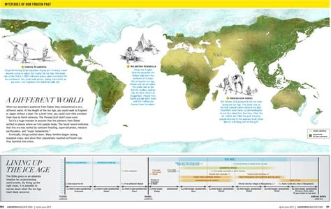 creationist map   ice age  answers mag map