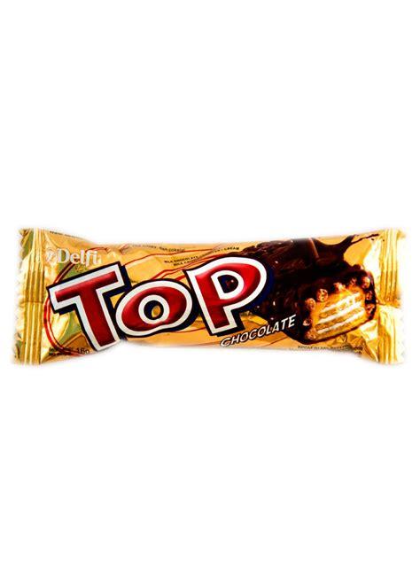 delfi chocolate wafer top pck 16g klikindomaret