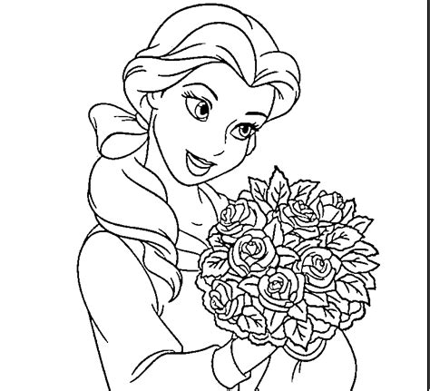 Disney Princess Belle Coloring Pages To Kids Bell Coloring Pages