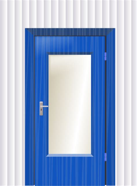 door clipart door with cristal and wall vector clip cliparting