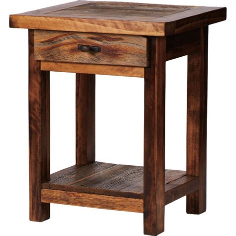 1 drawer nightstand plans rustic wyoming single drawer nightstand