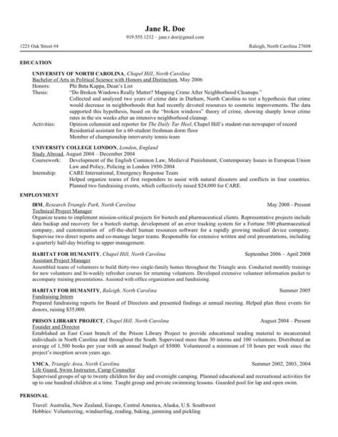 sle resume for college application resume sles