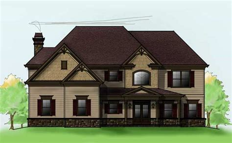small two story house plans with garage two story 4 bedroom home plan with 3 car garage