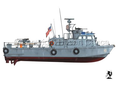 swift boat plans painting quot pcf mk i swift boat vietnam 1 quot original
