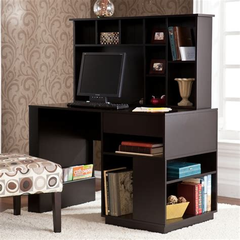 Adami Black Desk With Hutch Set Contemporary Desks And Black Desks With Hutch