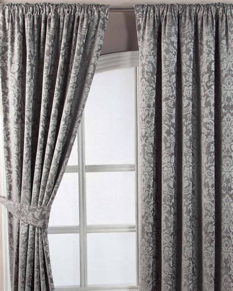 dark grey pencil pleat curtains grey velvet jacquard pencil pleat lined curtain pair 66 x