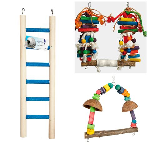 bird swings rainforest cages large bird toys pack 2