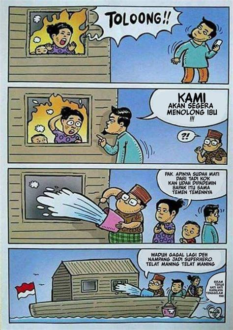 dua kartun  membantah fitnah agamamu   sebuah