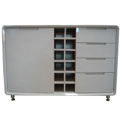 White Sideboard With Wine Rack white high gloss sideboard with wine rack