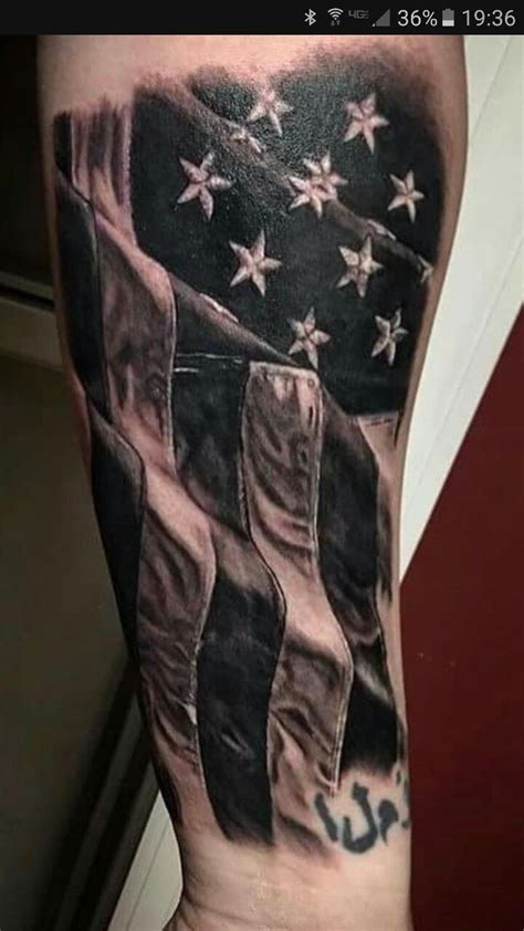 black and grey american flag tattoo 50 most amazing flag design ideas