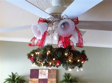 christmas wreath for ceiling fan christmas decor