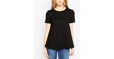 swing tee shirts asos swing t shirt in black lyst