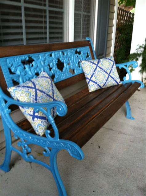 40 diy spray paint projects that restore items wrought iron bench iron bench and spray