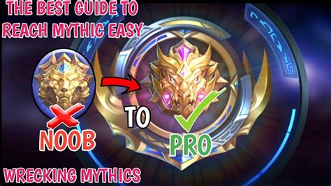 mythic mobile legend easy way to reach mythic from noob legend to pro mythic