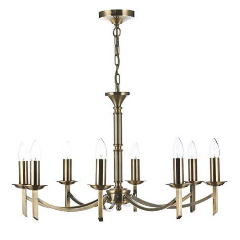 8 Light Pendant Chandelier Dar Lighting Ambassador 8 Light Chandelier Pendant In Antique Brass Fitting Type From Dusk