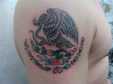 mexican eagle tattoo tribal mexican ideas foot tattoos design