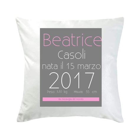 cuscino foto cuscino personalizzato con nome e foto