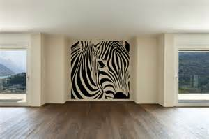 Zebra Wall Sticker Zebra Square Wall Decal Eclectic Wall Decals By