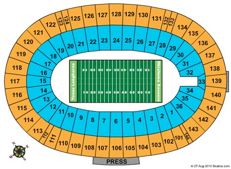 cotton bowl stadium seating chart