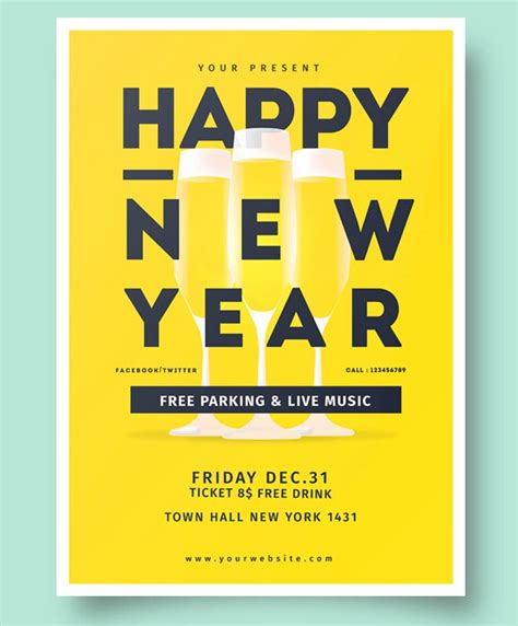 sle templates for flyers new year invitation sle 28 images golden new years