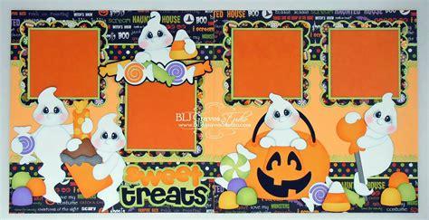 scrapbook layout ideas for halloween blj graves studio sweet treats halloween scrapbook pages