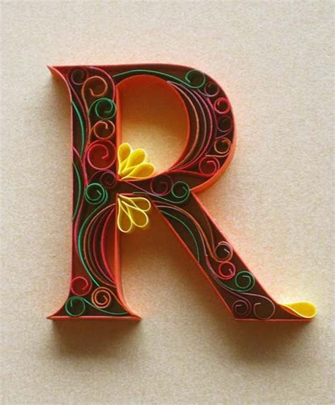 How To Make Paper Quilling Letters - quilling on paper quilling quilling letters
