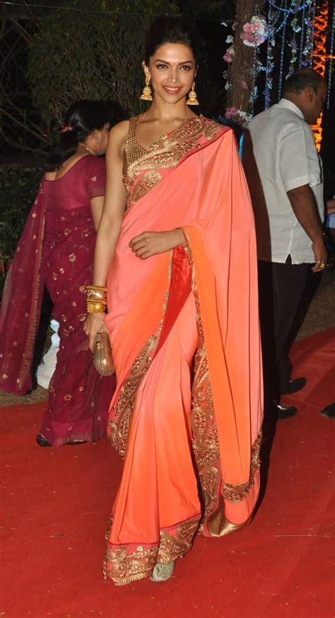 deepika padukone saree deepika padukone in jade saree celebrity sarees