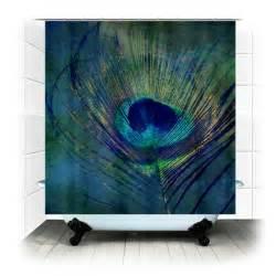 Peacock feather fabric shower curtain photography bathroom