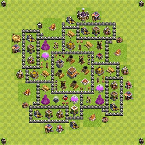 coc layout rh 8 clash of clans rh lvl 8 base