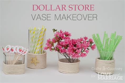 diy vase craft dollar store vase makeover