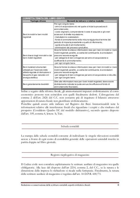 libro giornale sezionale redazione e conservazione delle scritture contabili