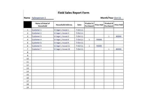 Simple Daily Sales Report Template
