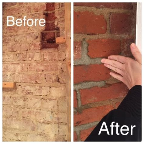 How To Clean An Interior Brick Wall by Exposing Cleaning A 100 Year Brick Wall Hometalk