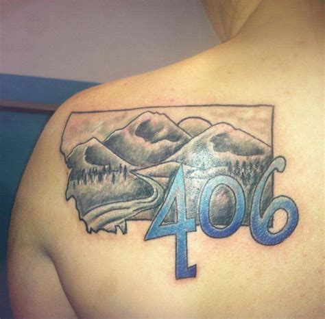 montana tattoo 406 ink tattoos featuring montana s area code montana
