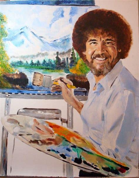 bob ross painting human bob ross portrait 16x20 by debi day artwanted