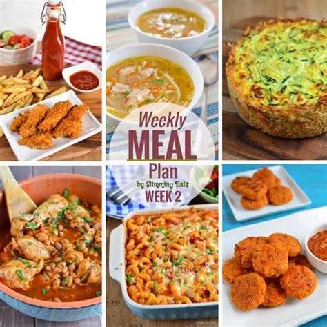 printable slimming world recipes slimming eats weekly meal plan week 2 slimming world
