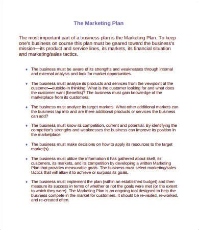 Marketing Plan Sle 14 Free Pdf Word Documents Download Free Premium Templates Business Plan Template For Marketing Company