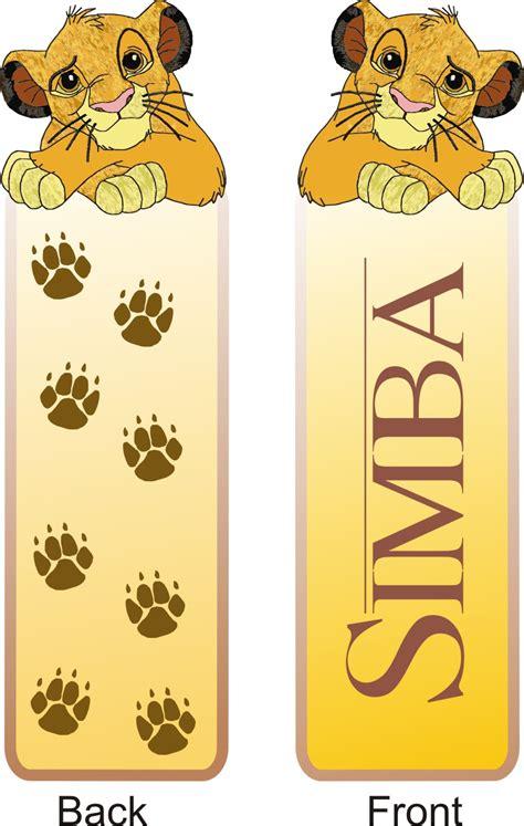Printable Lion Bookmarks   children books bookmarks to print lion king simba lion