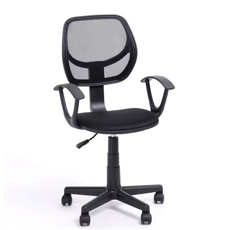 desk chair with adjustable arms ergonomic mid back home office task chair computer chair