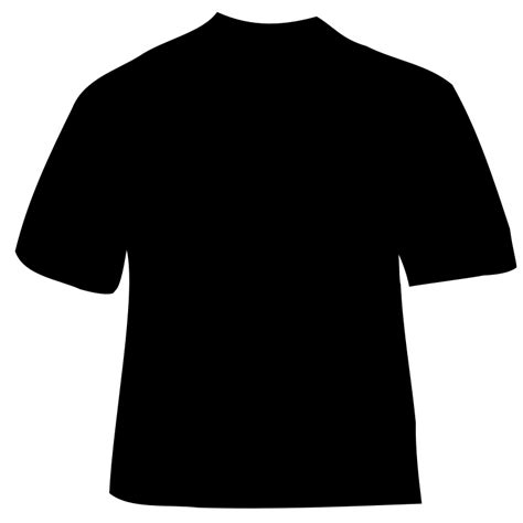 Kaos V Neck Logo 4 Vnk Ard65 black t shirt outline clipart best