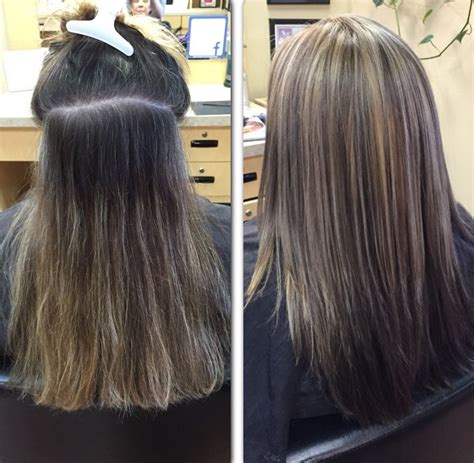 grey roots on highlighted hair a great way to help blend grey roots is by adding some
