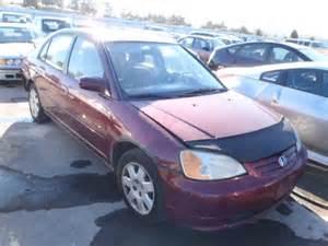 2002 Honda Civic Burgundy Salvage 2002 Burgundy Honda Civic Ex On Auction By