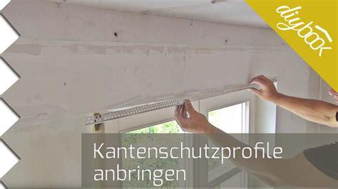 Deckenleisten Ecken by Kantenschutz Spachteln Putzprofile Anbringen