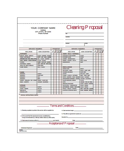 Cleaning Proposal Template 12 Free Word Pdf Document Downloads Free Premium Templates Cleaning Estimate Template