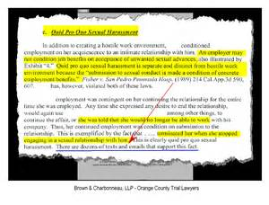 Wrongful Termination Letter To Employer by Irvine Trial Lawyer Gregory G Brown Obtains Six Figure