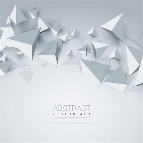 Polygon Premier 3 0 White white background with 3d polygons vector free