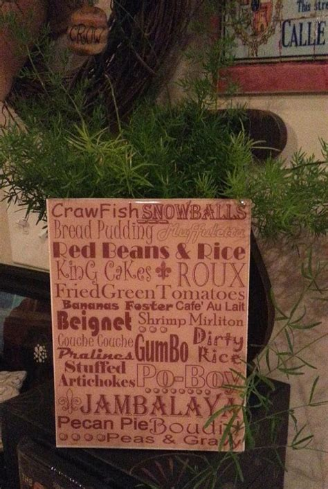 cajun home decor new orleans food crawfish cooking subway print kitchen