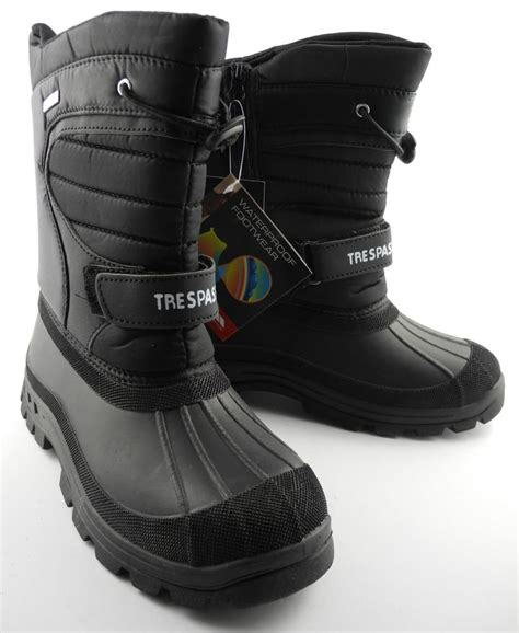 trespass mens snow boots mens womens boys waterproof trespass dodo ski snow